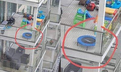 Trampolina na balkonie. To zdjęcie obiegło sieć. Czy tak postępują odpowiedzialni rodzice?
