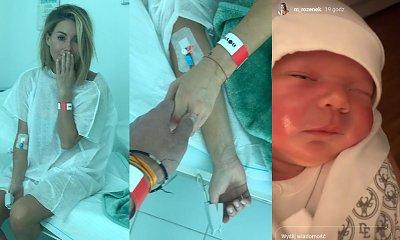 Małgorzata Rozenek pokazała niepublikowane wcześniej zdjęcia ze szpitala i tuż po porodzie! 1-dniowy Henio wyciska łzy