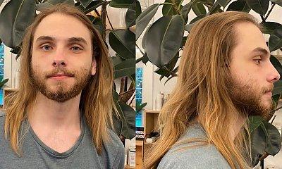 Mężczyzna miał długie włosy i brodę! Fryzjer zafundował mu totalną metamorfozę!