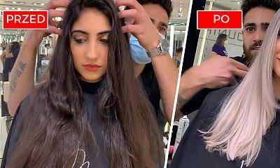 Czarne włosy do pasa ścięła i zafarbowała na... popielaty blond z siwym odrostem. Mega zmiana!