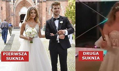 Joanna Opozda miała drugą suknię ślubną na weselu! Zatańczyła w niej pierwszy taniec. Która ładniejsza?