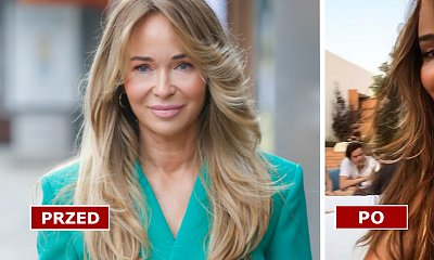 Joanna Przetakiewicz zaszalała z fryzurą! Miodowy blond czy czekoladowy brąz? W którym odcieniu wygląda lepiej?