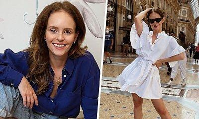 Olga Kalicka w sukience w grochy na weselu! Aktorka pokazała suknię ślubną panny młodej! Zjawiskowa!