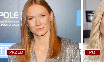Katarzyna Dąbrowska zaszalała z fryzurą! W platynowym blondzie aż trudno ją poznać! Jest efekt WOW?