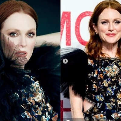 """Julianne Moore pojechała do Chin jako ambasadorka marki Chanel. 58-latka nie wygląda na swój wiek, ale ta sukienka... """"MASAKRA"""""""