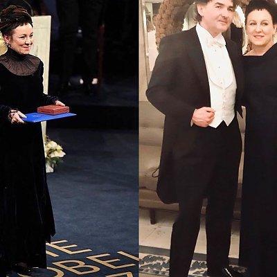 Olga Tokarczuk na Nagrodach Nobla miała dwie wieczorowe suknie! W której wyglądała lepiej?