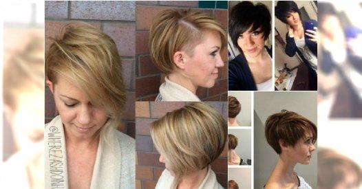 Kr 243 Tkie Fryzury Asymetryczne Włosy Za Ucho Pixie
