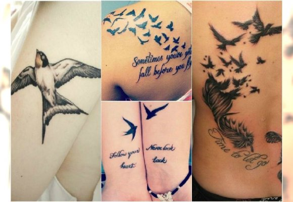 Tatuaż Ptaki Wzory Na Ręce Plecy I Stopy