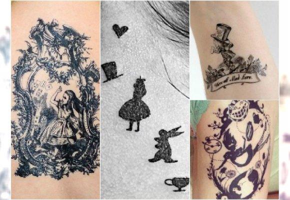 Oryginalne Tatuaże Inspirowane Alicją W Krainie Czarów