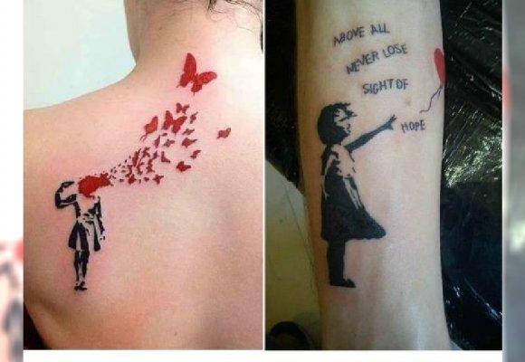 Tatuaże Jak Graffiti Banksyego Super Pomysł Na Tatuaż