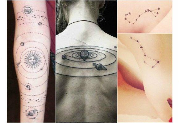Hit Astrologiczne Tatuaże Z Konstelacją Gwiazd I Zodiakiem