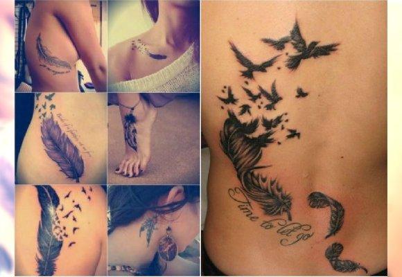 Tatuaż Z Piórem 22 śliczne Wzory Dla Dziewczyn