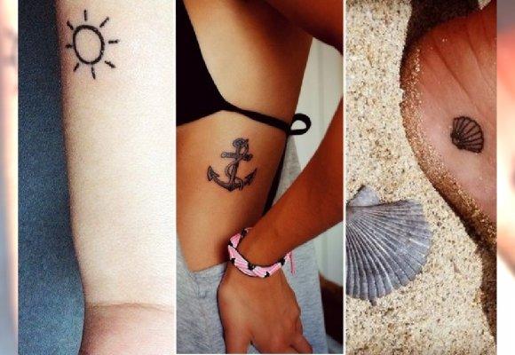 Palmy Rozgwiazdy Muszelki Wakacyjne Motywy Tatuażu