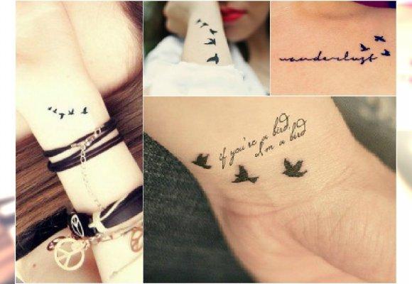 Tatuaż Z Odlatującymi Ptakami Subtelne Wzory Na Ręce