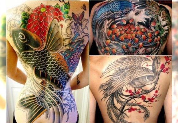 Hot Trend Japoński Tatuaż Duże Kolorowe Wzory Na Ręce I Plecy