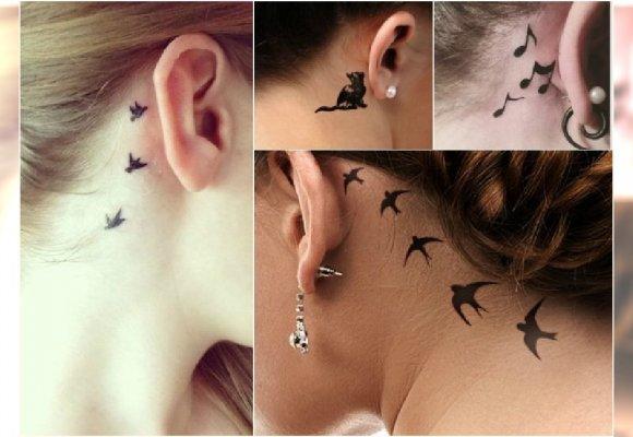 Uroczy Mały Tatuaż Za Uchem Co Powiecie Na Te Wzory