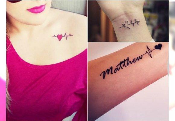 Tatuaż Heartbeat Ten Motyw Uwielbiają Dziewczyny