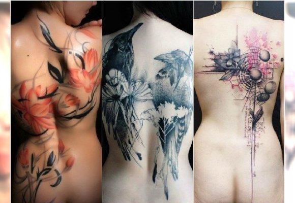Duży Tatuaż Na Plecach Wzory Jak Dzieła Sztuki 20