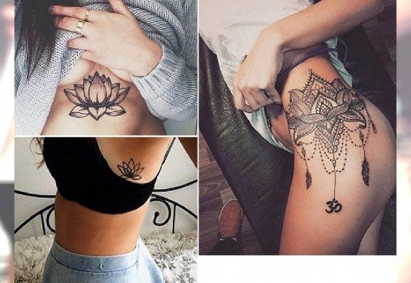 Kwiat Lotosu Niezwykle Kobiecy Tatuaż Na Rękę Plecy