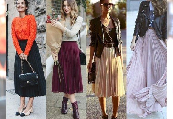 bc38129a HOT: Najlepsze stylizacje z długą plisowaną spódnicą. Wielka galeria ...