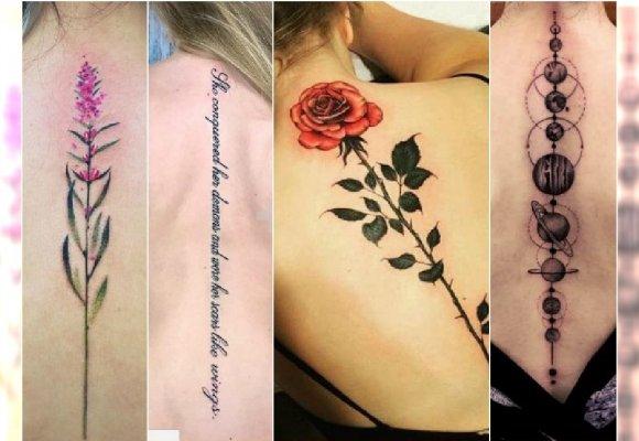 Tatuaż Wzdłuż Pleców Na Kręgosłupie 30 Pięknych Wzorów