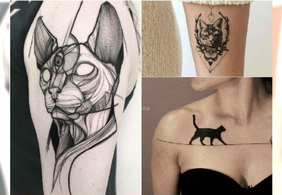Tatuaż Z Kotem Nowoczesne Wzory Dla Fanów Tatuażu I Kotów