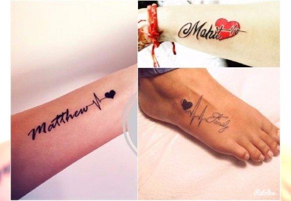 Tatuaż Heartbeat Dla Mamy Wzory Z Imieniem Sercem I Napisami 13