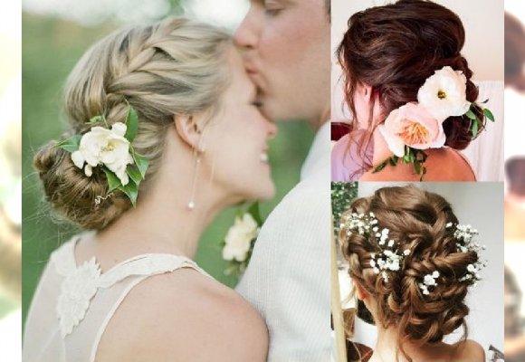 Fryzury ślubne 2018 Piękne Upięcia Z żywymi Kwiatami