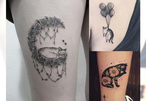 Tatuaż Z Kotem Urocze Piękne Wzory Dla Wielbicielek Kotów