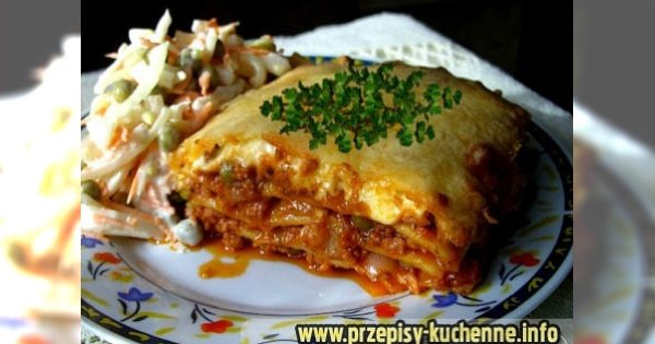 Lasagne z sosami