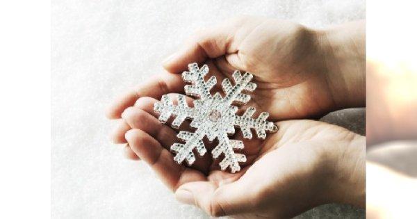 Dłonie zimą