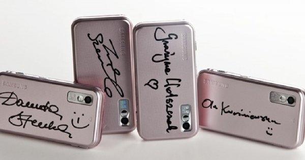Różowy Samsung i gwiazdy