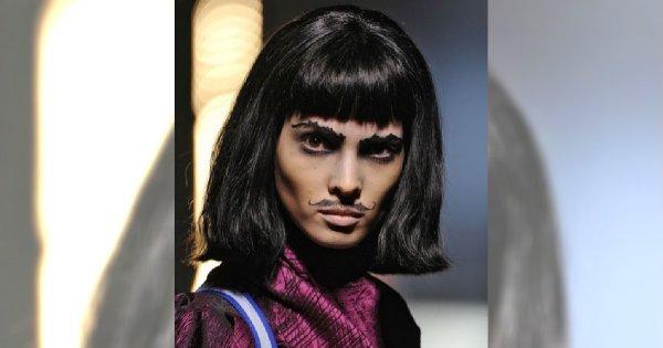 Modelki zapuszczają wąsy