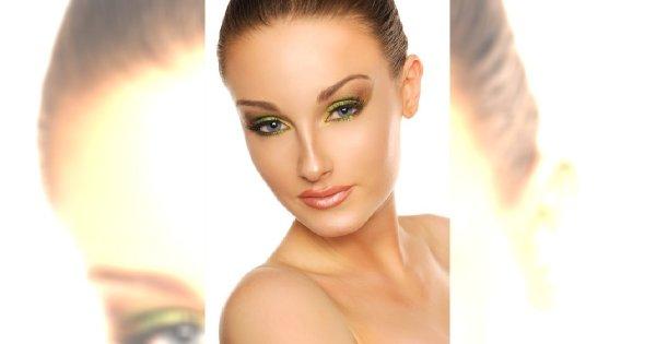 Limonkowy makijaż na karnawał