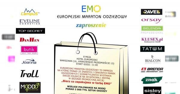 Europejski Maraton Odzieżowy - zgarnij zaproszenie!