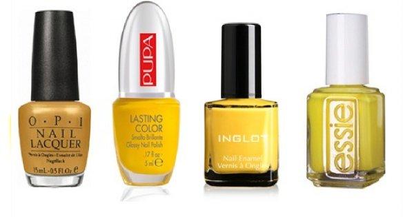 Żółty manicure - hit tego lata!