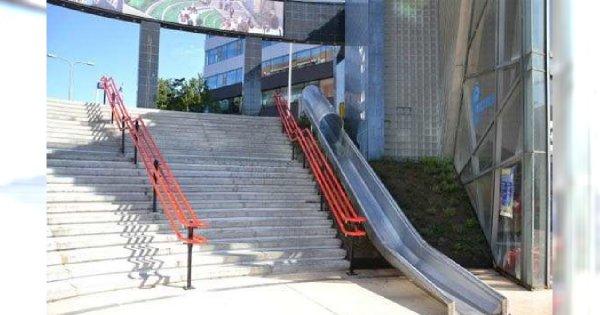 Zjeżdżalnia zamiast ruchomych schodów