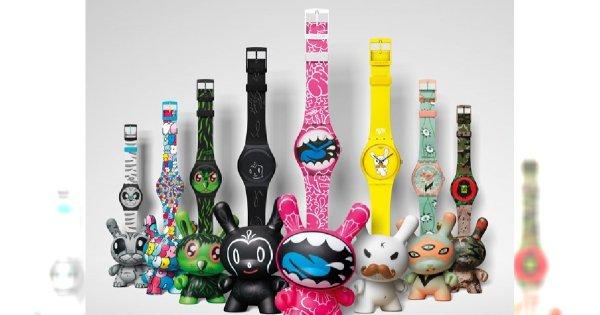 Artystyczna kolekcja Swatch i Kidrobot