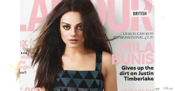 Mila Kunis na okładce Glamour