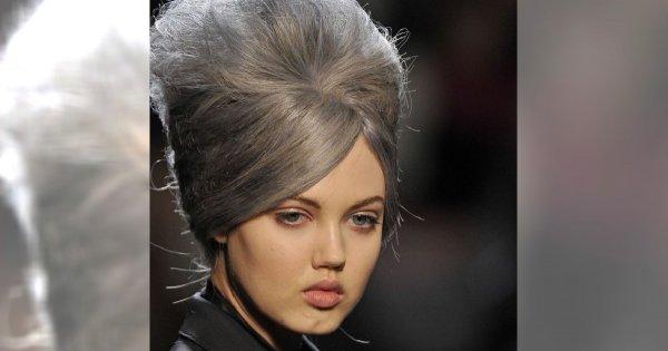 """Stylizacja """"na babcię"""" według Jean Paul Gaultier"""