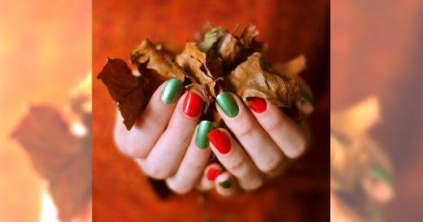 Jesienne kolory na paznokciach