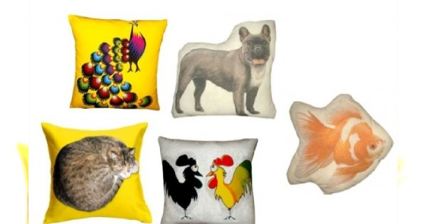 Top 6 - poduszki dla miłośników zwierząt