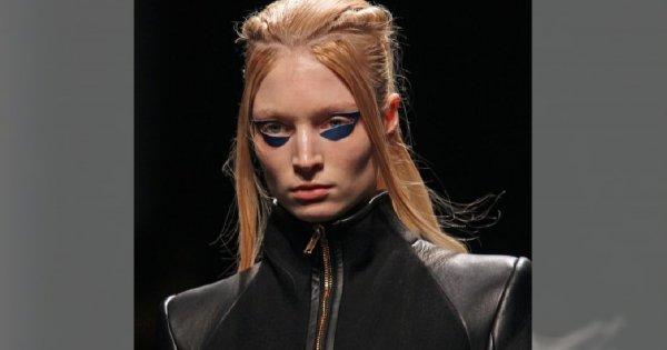 Futurystyczny makijaż Gareth Pugh
