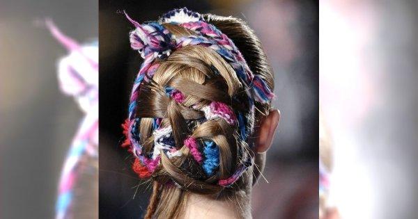 Chusta we włosach – trend Thakoon