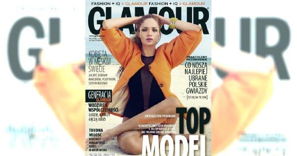 Olga Kaczyńska na okładce Glamour
