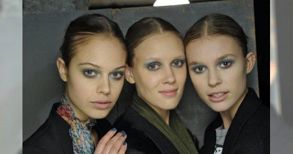 Niebiesko-szary makijaż u Cacharel