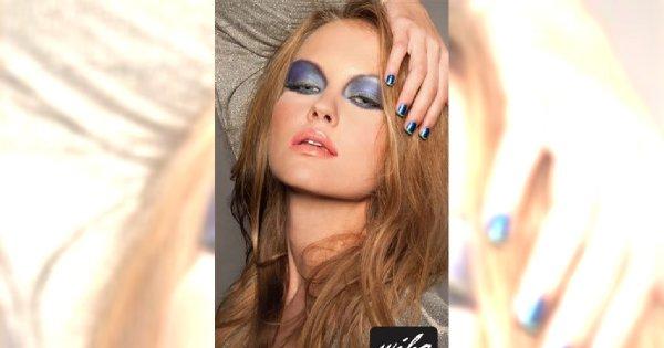 Pomysł na Sylwestra i karnawał: makijaż w odcieniach błękitu