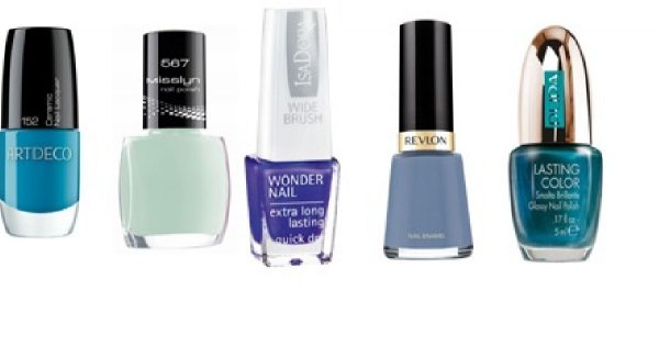 Manicure w kolorach nieba