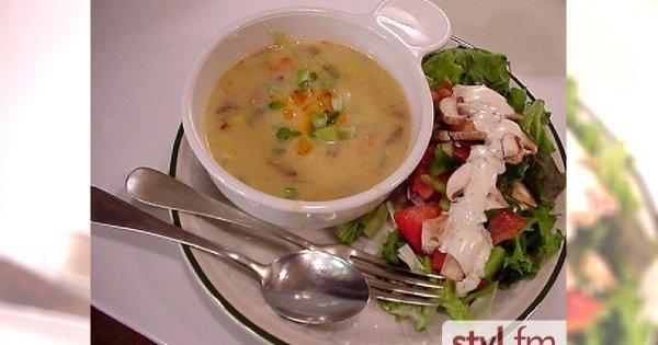 Gęsta zupa cebulowa