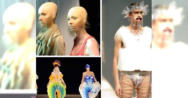 Absurdy mody - dziwne kreacje na wybiegach